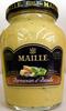Moutarde au vin blanc au parmesan et au basicic Maille - Produit