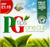PG Tips One Cup Pryamid Tea Bags - Product