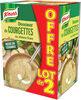 Knorr Riche en Légumes Soupe Liquide Courgettes et Chèvre Frais 2x1l - Product