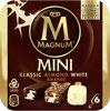 MAGNUM Glace Bâtonnet Mini Classic, Amande & Chocolat Blanc 6x55ml - Produit
