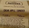 Cream Apple Turnover - Product
